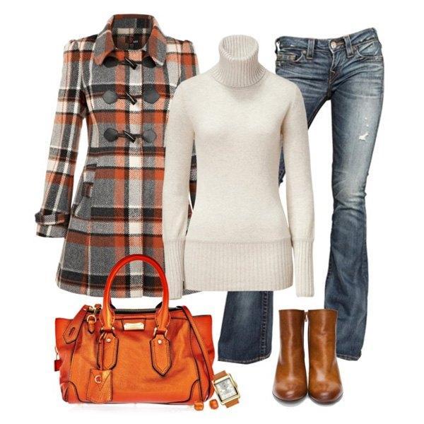 С чем носить оранжевую сумку?