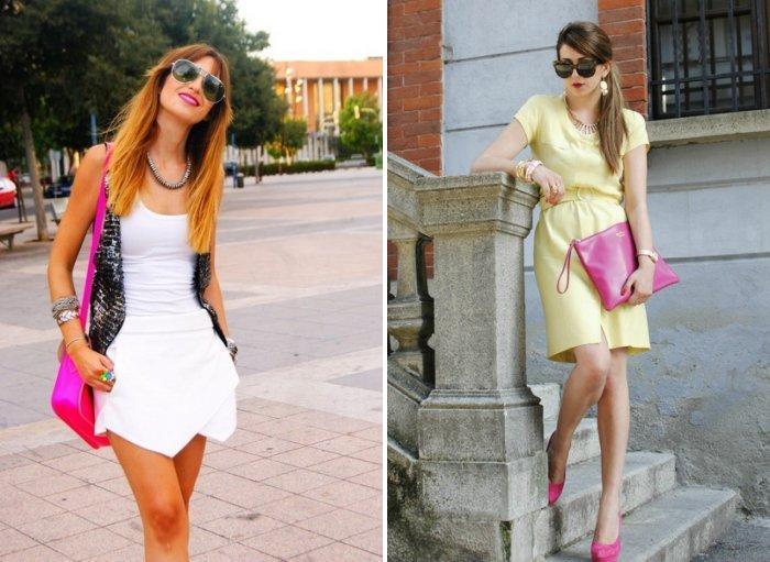 Ярко-розовая сумка для модниц