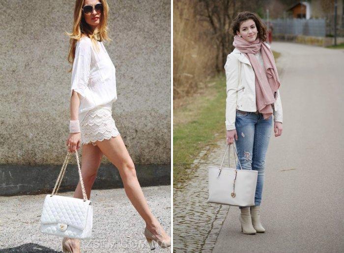 Белая сумка: стильно и красиво