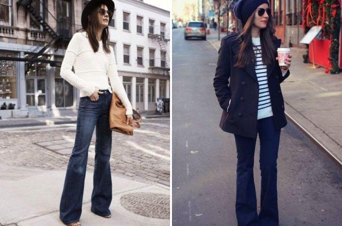 Джинсы клеш: незаменимая повседневная одежда