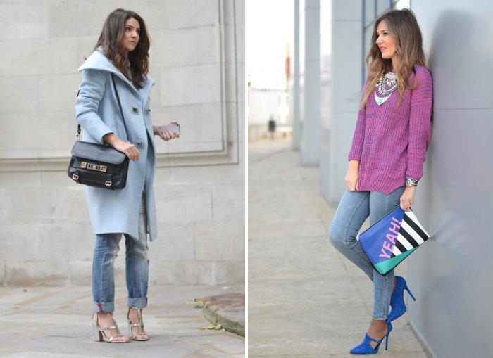 Голубые джинсы: модно и удобно