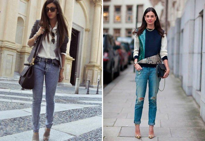 Голубые джинсы: на прогулку и в офис