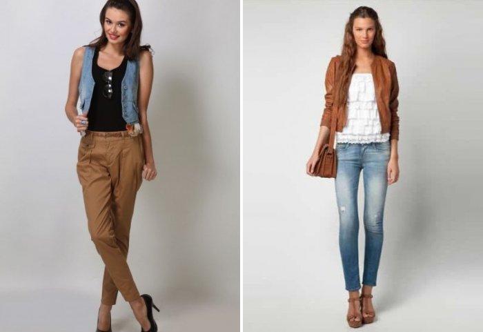 Стильные коричневые брюки