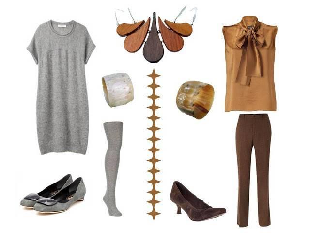 С чем сочетать коричневые брюки