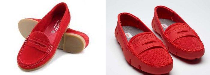 Красные мокасины: стильно и удобно