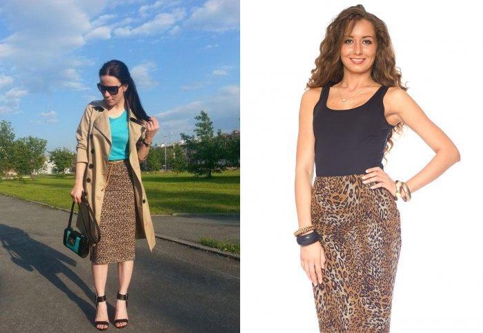 Леопардовая юбка карандаш: идеально для работы в офисе