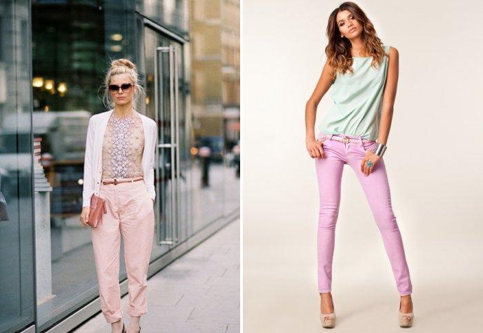 Розовые брюки на любой вкус
