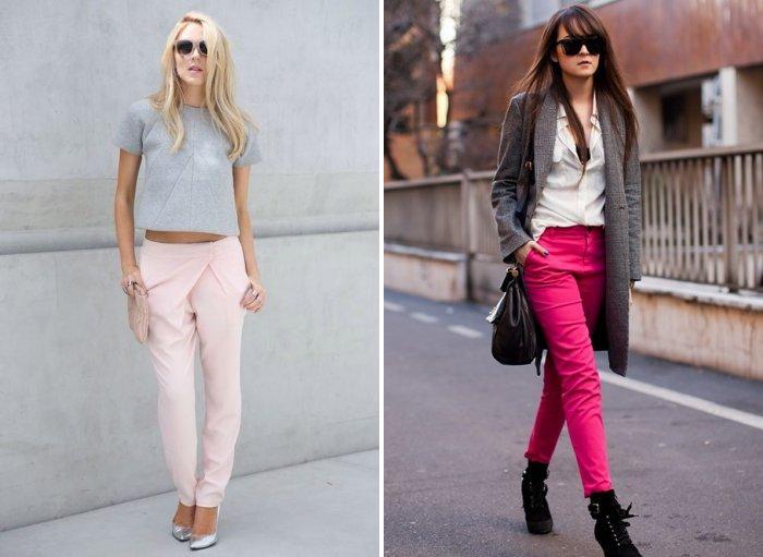Розовые брюки: мода и стиль