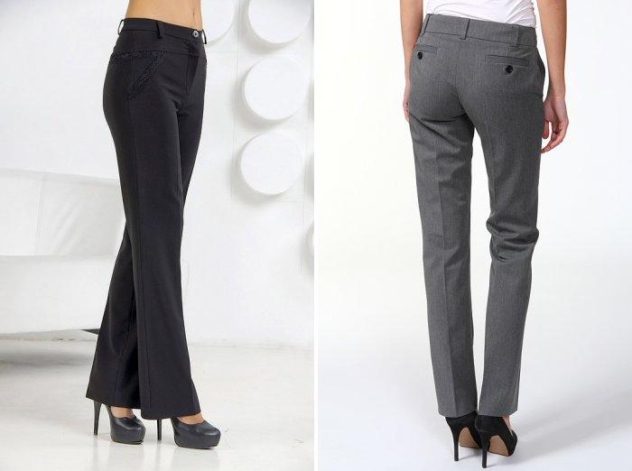 Классические брюки серого цвета