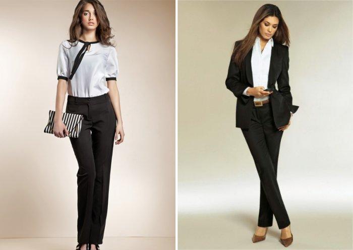 Деловой стиль: классически черные брюки