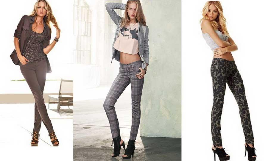 Узкие брюки в сочетании с босоножками на каблуке