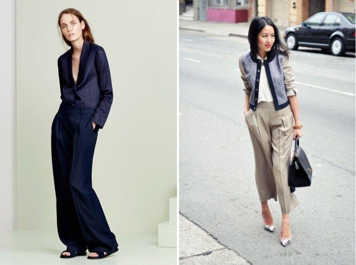 Длинные широкие брюки