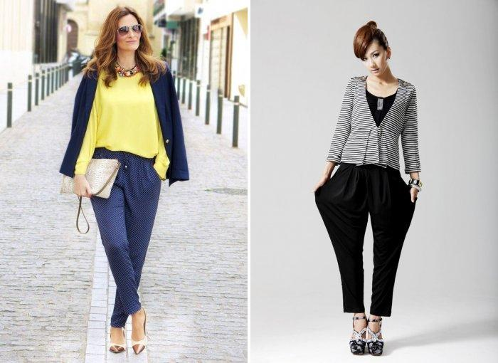 Модные брюки бананы