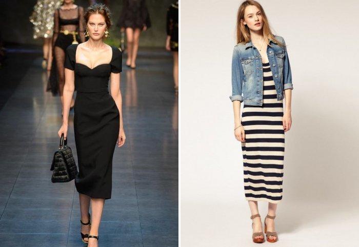 Платье миди: модно и удобно
