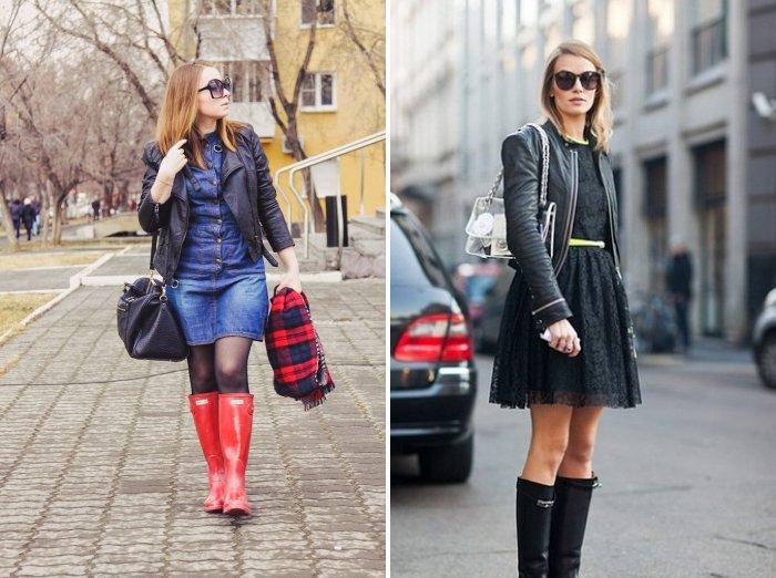Резиновые сапоги: модно и удобно