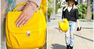 Вытянутая желтая сумка для стильного образа