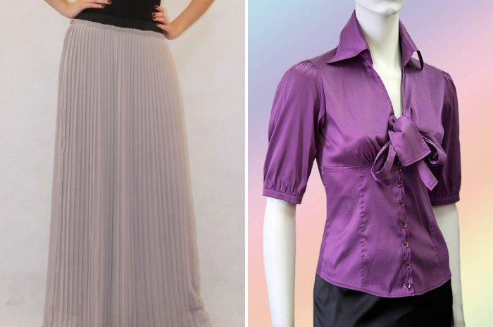 Плиссированная серая юбка макси