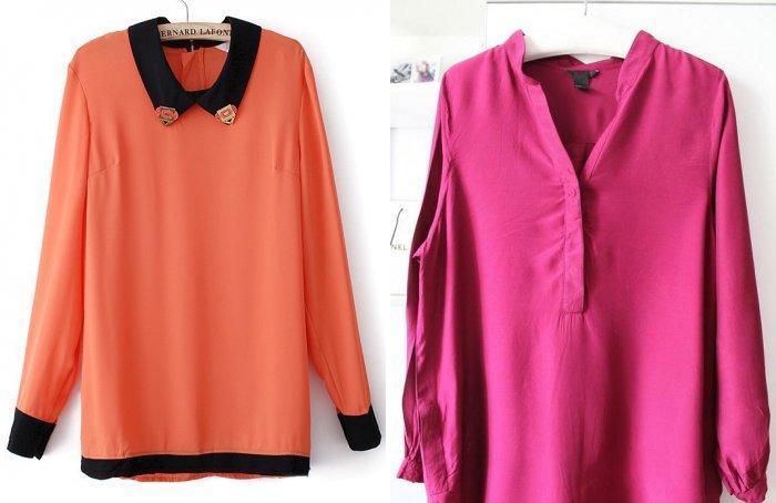 Яркие блузы для серой юбки длины макси