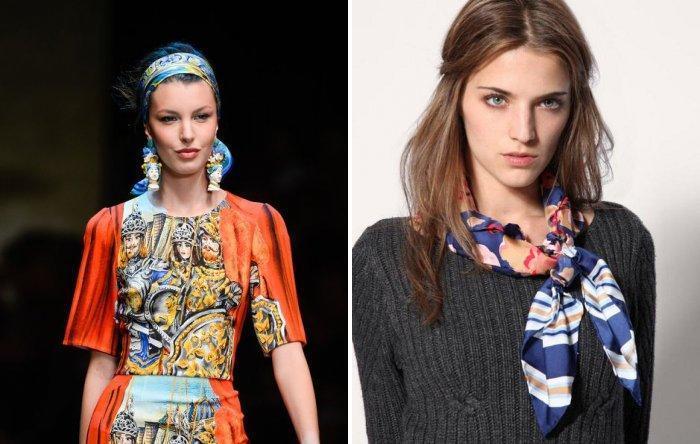 Шейный платок модных ярких расцветок
