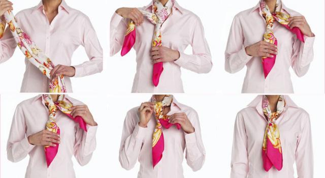 Завязываем шейный платок как галстук