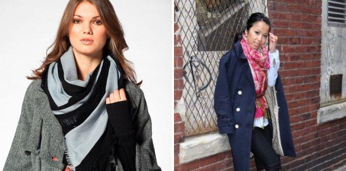 Стильный шейный платок для осени