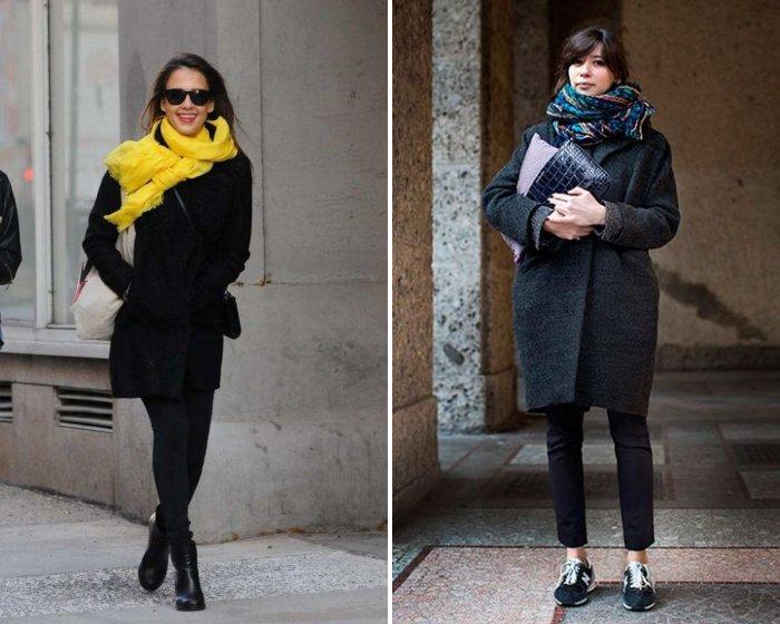 Шейный платок с пальто