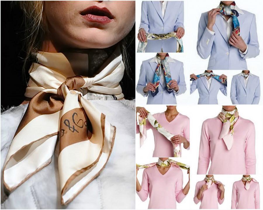 Шейный платок: красиво и модно