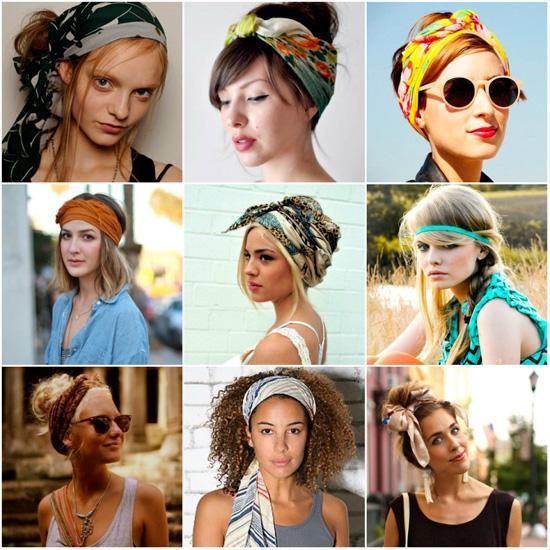 Интересные способы завязывания шейного платка на голове