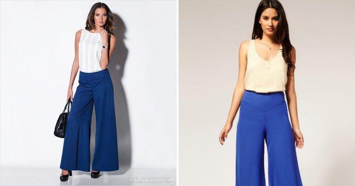 Широкие брюки: вариант для офиса