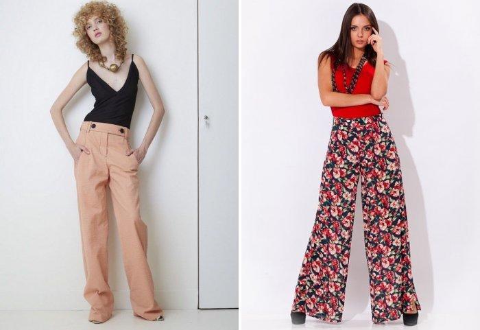 Аксессуары к широким брюкам: бусы