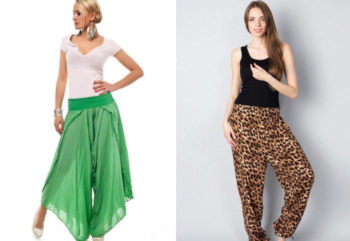 Аксессуары к широким брюкам: крупные серьги и браслеты
