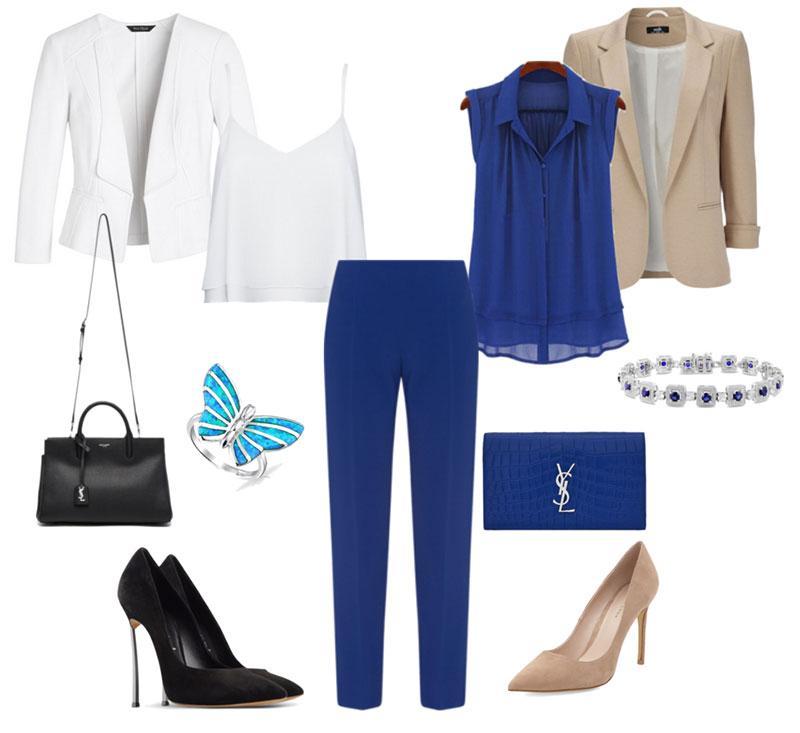 Синие брюки: мода и стиль