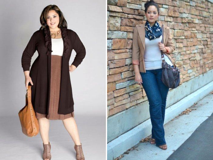 Строгая одежда стиля кэжуал для полных