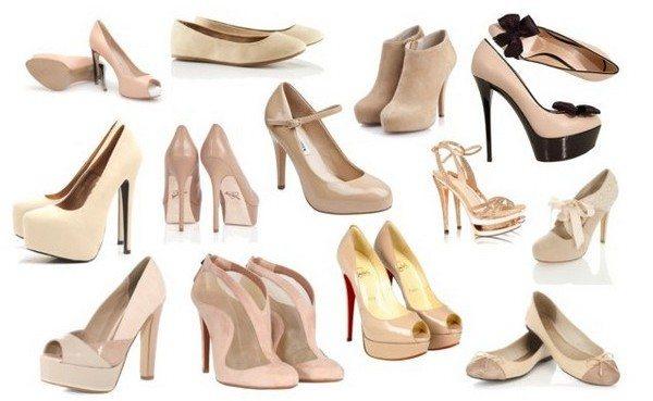 Бежевая обувь для бирюзовых брюк