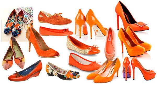 Коричнево-оранжевая обувь для бирюзовых брюк