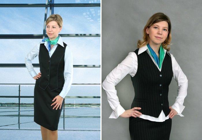 Шейный платок в дополнение к деловому костюму