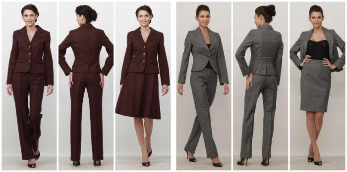 Коричневая и серая цветовая гамма для делового костюма