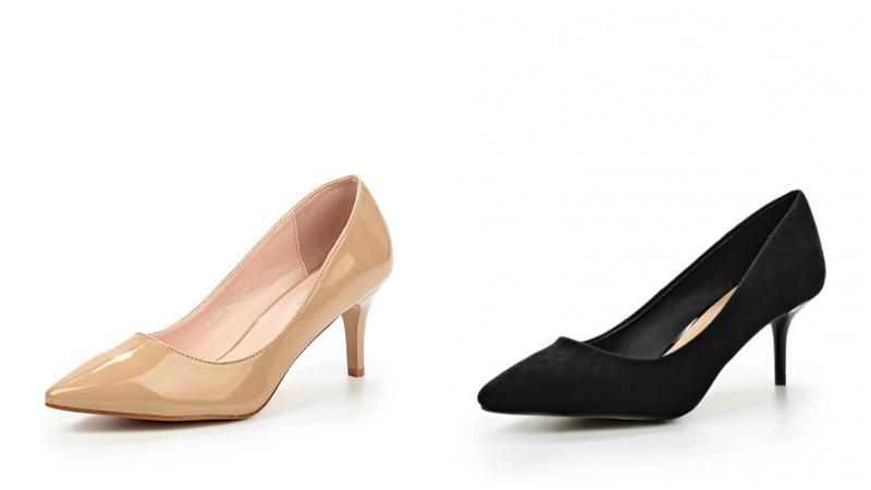 Элегантные туфли-лодочки на невысоком каблуке