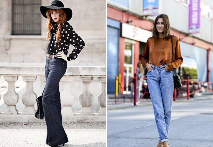 Романтический образ с джинсами с высокой талией