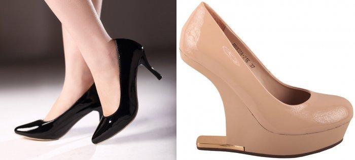 Туфли на высоком каблуке для коралловой юбки