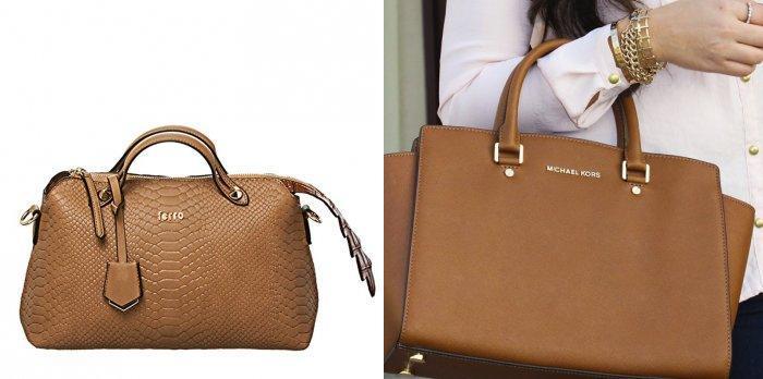 Светло-коричневая сумка для офиса
