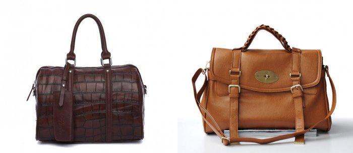 Коричневая сумка ретро-модели