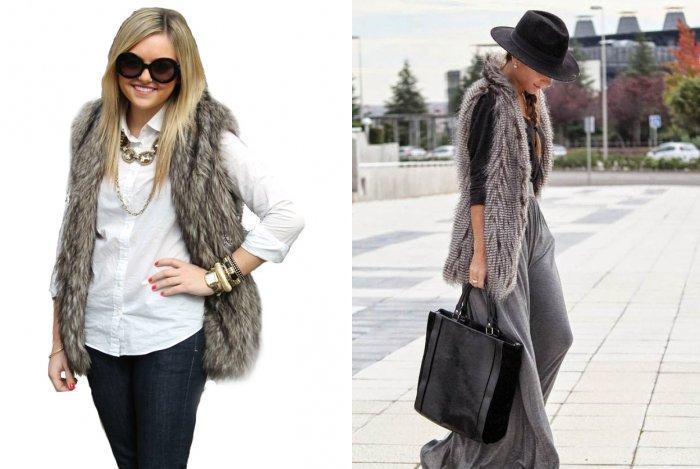 Меховая жилетка: модно и практично