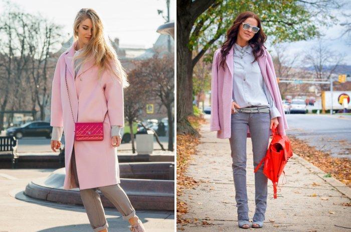 Коралловая сумка для розового пальто