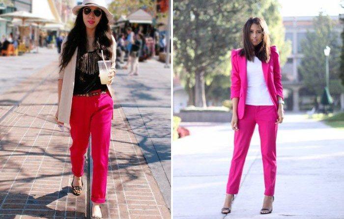 Розовые брюки в гардеробе: с чем сочитать?
