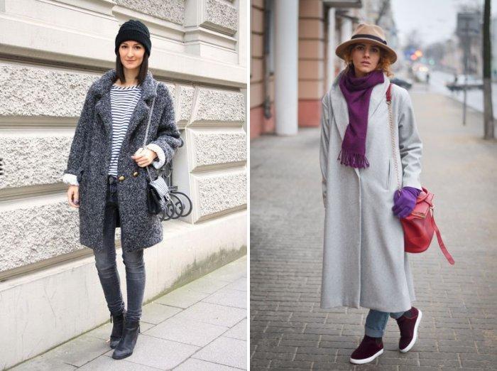Модное пальто стиля оверсайз
