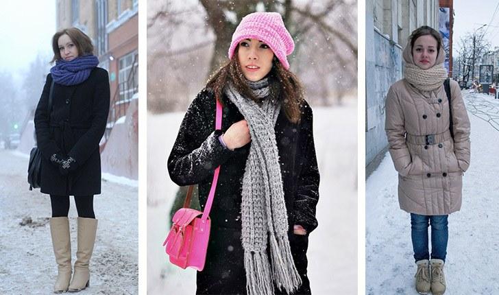 Как носить шарф с пальто?