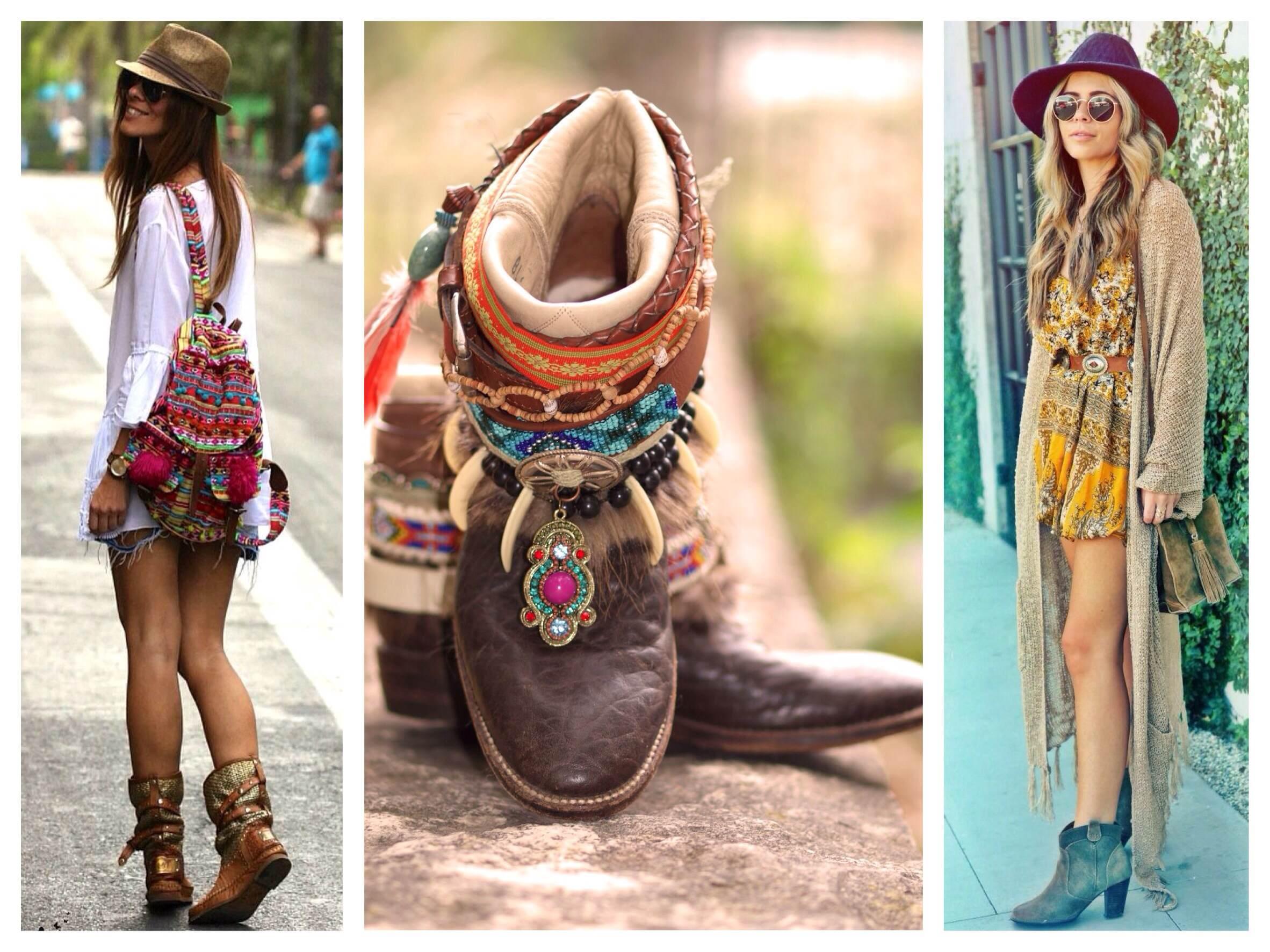 Обувь для одежды в стиле бохо
