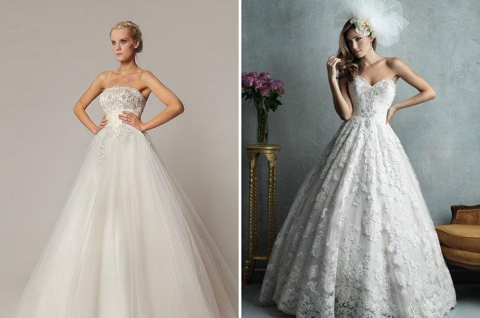 Свадебное платье с подчеркнутой талией