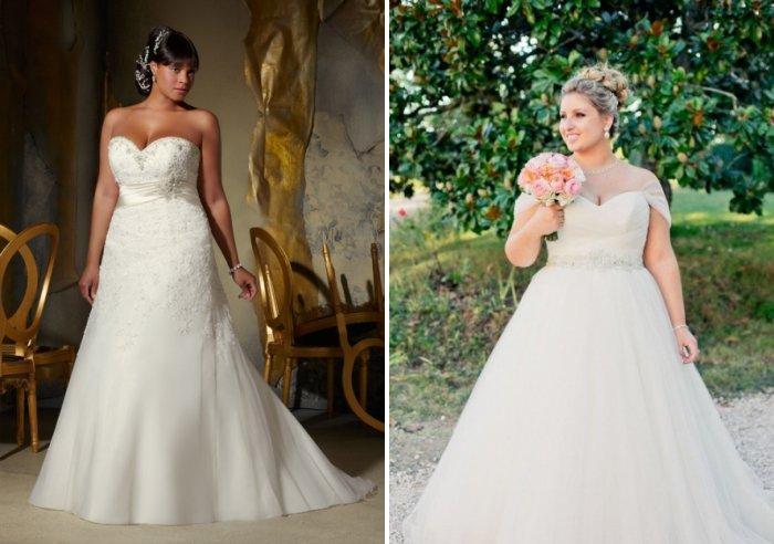 Свадебное платье для полных дам